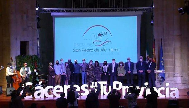 Galardonados en los IV Premios San Pedro de Alcántara que convoca la Diputación de Cáceres