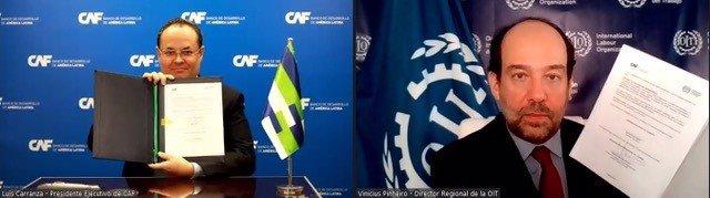 CAF y la OIT trabajarán en conjunto para impulsar mejores empleos en América Latina y el Caribe