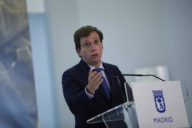 El alcalde de Madrid, José Luis Martínez-Almeida, interviene en la presentación de la exposición 'Gregorio Ordóñez. La vida posible', en CentroCentro, en Madrid (España), a 20 de octubre de 2020. La muestra ha sido organizada por la Fundación Gregorio Ord
