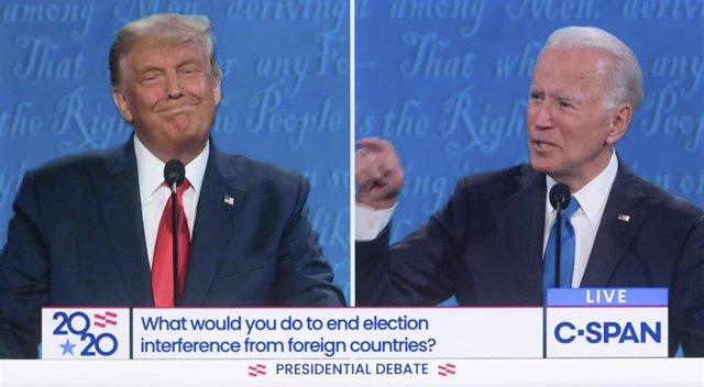 El presidente de Estados Unidos, Donald Trump y su candidato demócrata a las pre