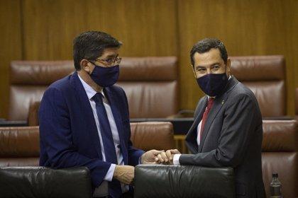 """Marín admite que él y Moreno están """"contrariados"""" por la """"pelea"""" PP-Vox y espera que no afecte al presupuesto andaluz"""