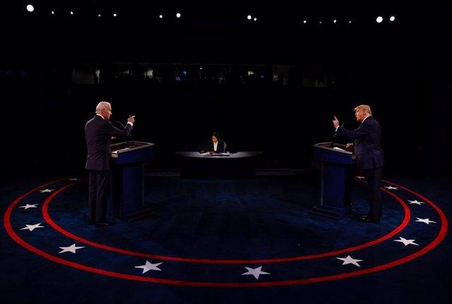 Donald Trump y Joe Biden en su último debate televisado