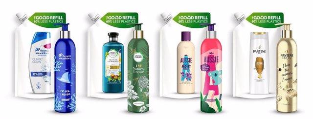 P&G Beauty lanza su primer sistema de botellas de aluminio reutilizables y rellenables