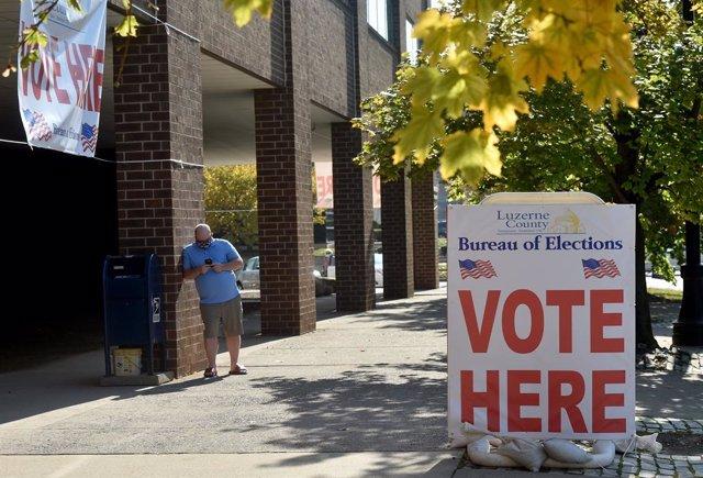 Col·legi electoral a Pennsilvània, EUA.