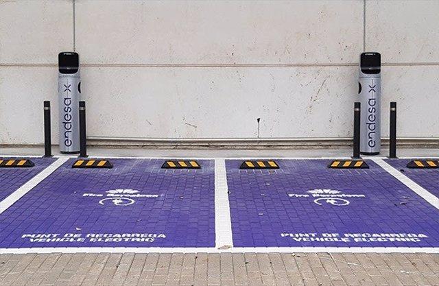 Fira de Barcelona y Endesa instalarán 18 puntos de recarga para vehículos eléctricos