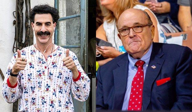 Borat responde a la polémica sexual con Rudy Giuliani