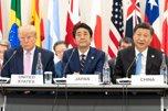 Trump, Shinzo Abe y Xi Jinping