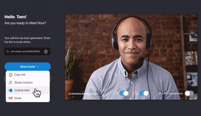 La barra de tareas de Windows 10 integra el acceso directo a las videollamadas d