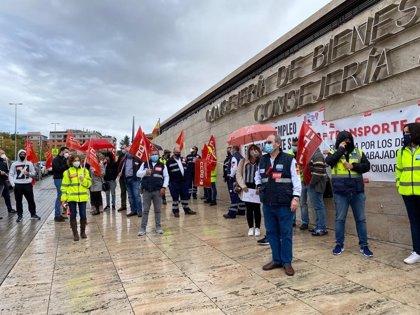 CCOO presiona ante Sanidad por el convenio de transporte sanitario y recuerda que en 10 días la huelga será indefinida