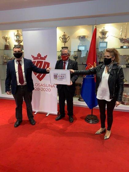 El cupón de la ONCE se vuelve 'rojillo' para celebrar el centenario de Osasuna