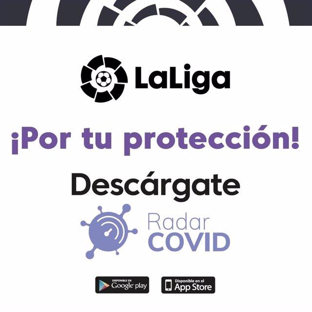 Fútbol.- LaLiga promoverá la descarga de la aplicación RadarCOVID durante El Clá