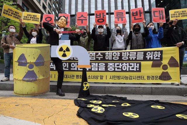 Japón.- Greenpeace avisa que el próximo vertido de aguas radioactivas de Fukushi