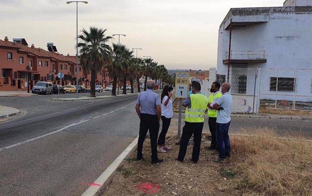 Obras en el tramo de la SE-3411 que une Guillena con Las Pajanosas