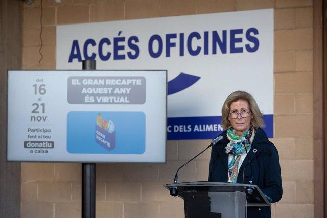 La presidenta de la Federació Catalana del Banc dels Aliments, Roser Brutau. Barcelona, Catalunya (Espanya), 23 d'octubre del 2020.