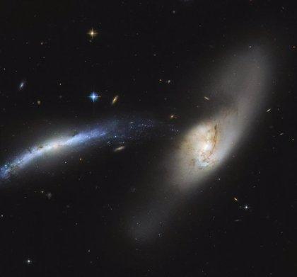 Hubble observa una cascada galáctica