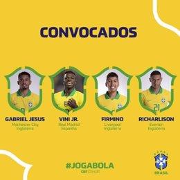 Vinícius entra en la lista de convocados de Brasil