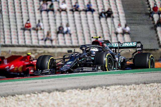 AMP.- Fórmula 1/GP Portugal.- Bottas lidera y Sainz se coloca quinto en el accid
