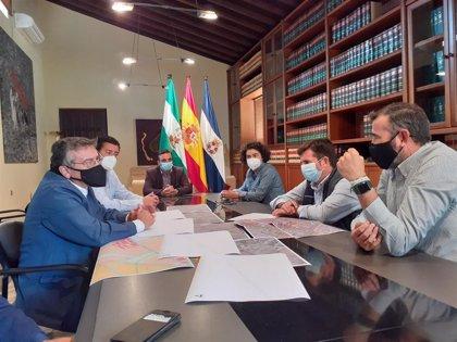 Diputación redactará en 2021 el proyecto para ampliar la vía entre Guadalcacín y San José Obrero en Jerez
