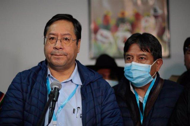 Luis Arce y David Choquehuanca