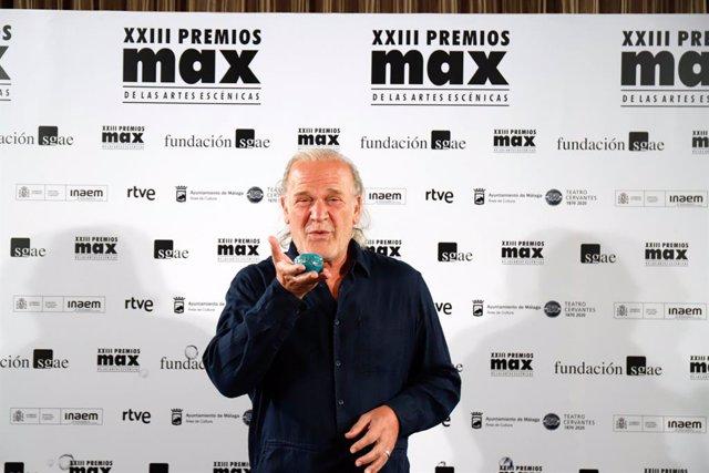 L'actor Lluis Homar a la gala dels XXIII Premis Max de les Arts Escèniques que se celebren al Teatre Cervantes de Màlaga. Màlaga, Espanya, 7 de setembre del 2020.