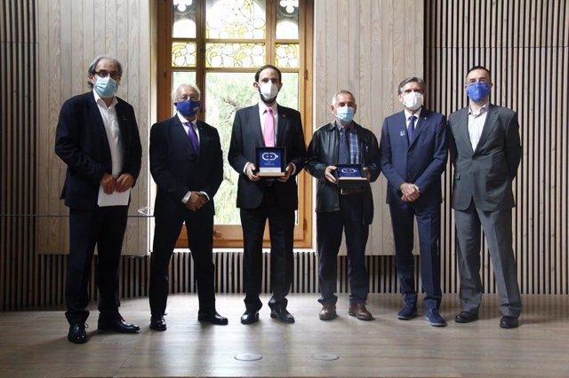 Imatge dels premiats en la 6a edició de la Nit de la Robòtica