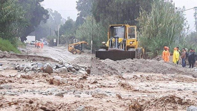 Imagen de archivo de inunaciones profocadas por las fuertes lluvias en Perú.