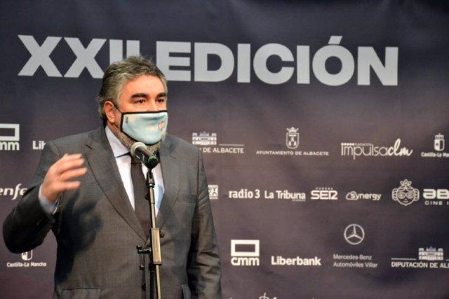 El ministro de Cultura y Deporte, José Manuel Rodríguez Uribes, en la inauguración de la XXII edición del Festival Abycine