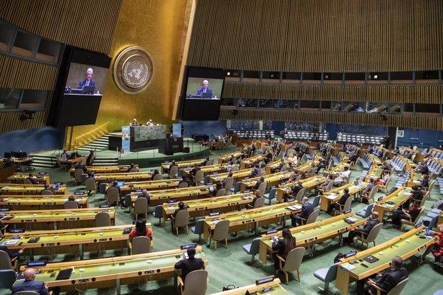 ONU.- La ONU conmemora su 75 aniversario con una llamada a la paz global frente