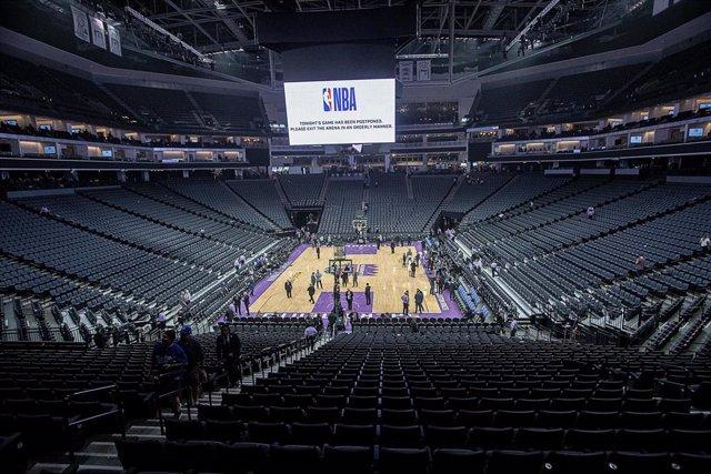 Pabellón vacío de la NBA