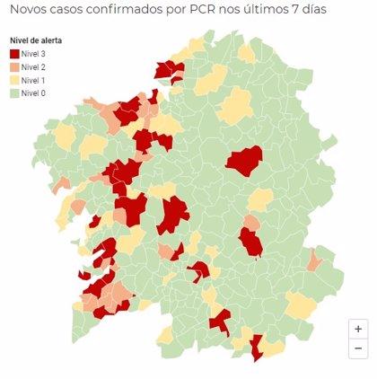 Casi 30 municipios gallegos están ya en nivel rojo de alerta por covid-19
