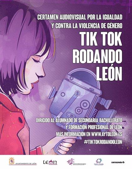 El Ayuntamiento de León pone en marcha un concurso juvenil de Tik Tok para concienciar contra la violencia de género