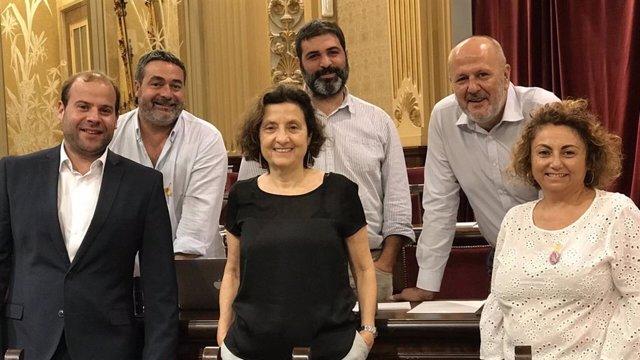 Diputados del Grupo MÉS per Mallorca.