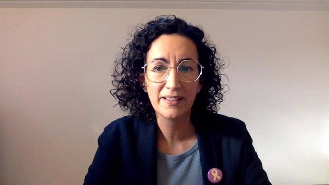 Marta Rovira durant el Consell Nacional d'ERC
