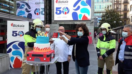 El Servicio de Bomberos de la Diputación Foral de Bizkaia comienza la celebración de su 50 aniversario