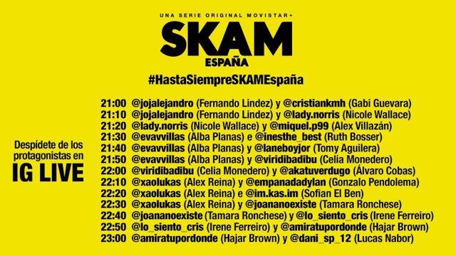 ¿A Qué Hora Se Estrena El Final De SKAM España Y Los Encuentros En Instagram Con Sus Protagonistas?