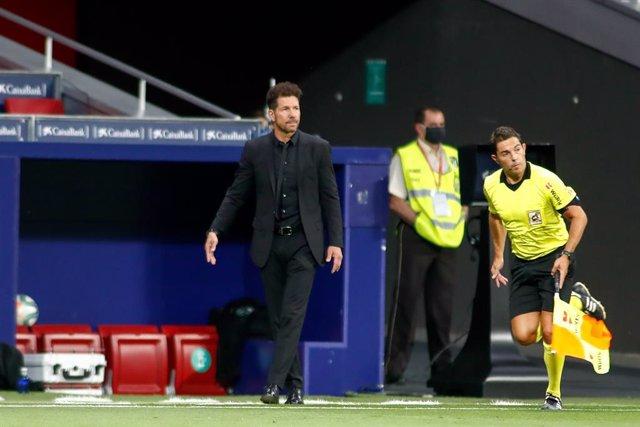 """Fútbol.- Simeone: """"El equipo tenía encaminado el partido"""""""