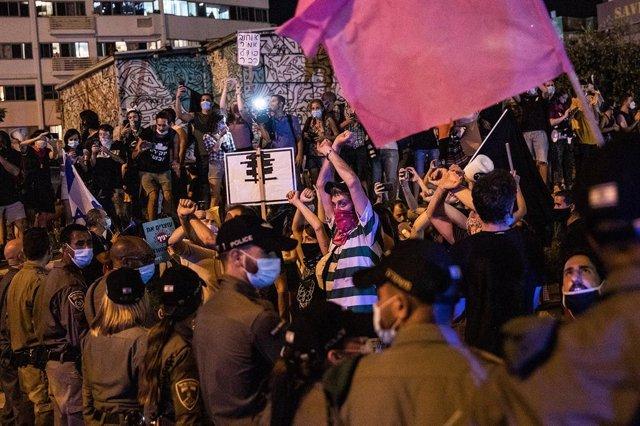 Anti government protest in Tel Aviv