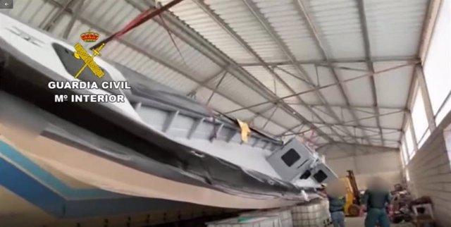 Narco-embarcadero intervenido por la Guardia Civil
