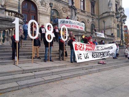 """Pensionistas de Bizkaia trasladan este lunes a los partidos su visión de la reforma que temen sea """"una ocasión perdida"""""""