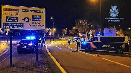 Sorprendidas 3 personas, naturales de Logroño, con más de 1 kilo de cocaína en un control confinamiento en Zaragoza