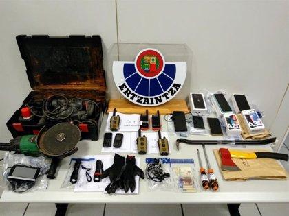 Detenidas seis personas que conformaban un grupo criminal dedicado a la comisión de robos con fuerza en Gipuzkoa y Álava