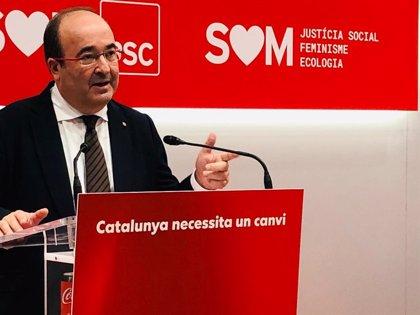 """Miquel Iceta (PSC) augura que la alarma y la cogobernanza conseguirán """"doblegar la curva"""""""
