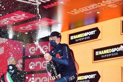 El británico Geoghegan Hart, vencedor del Giro de Italia