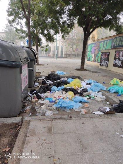 Vox alerta de residuos sanitarios relacionados con pacientes de Covid en el barrio de la Macarena de Sevilla