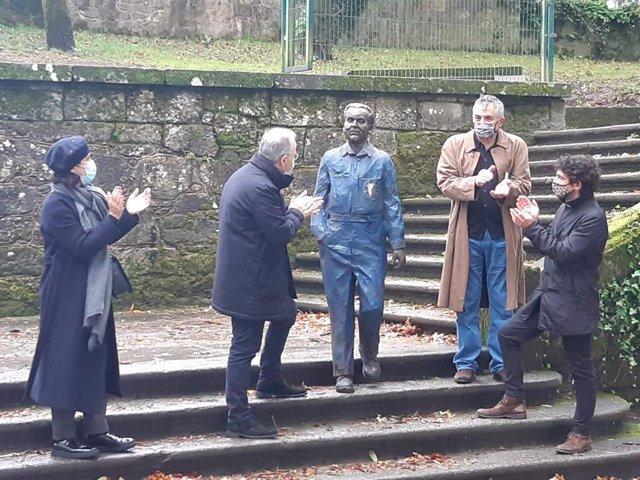 Inauguración de la estatua de Federico García Lorca en Santiago