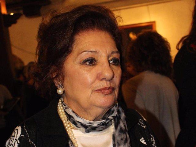Dolores Abril, en una de sus últimas apariciones públicas, en el año 2015