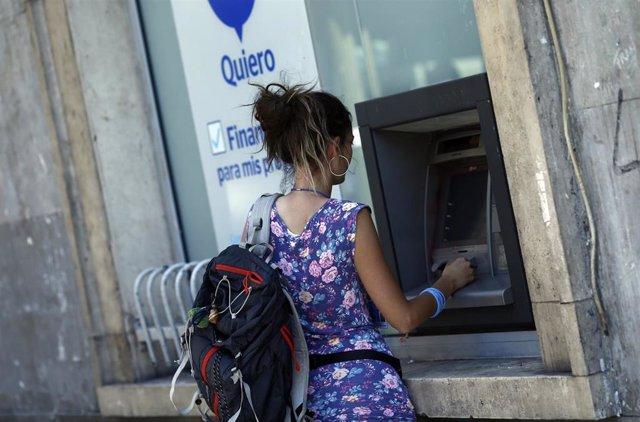 Imagen de recurso de un cajero automático.