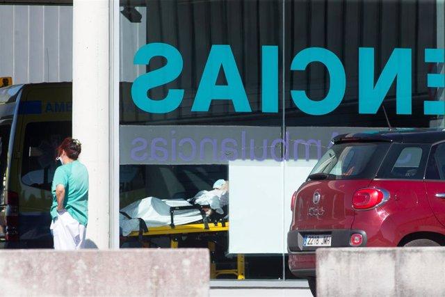 Un paciente con Covid en el Hospital de Lugo.