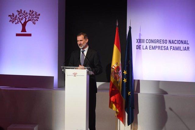 """Economía.- El Rey, ante un 2020 """"difícil"""", pide no """"caer en el pesimismo"""", """"unir"""