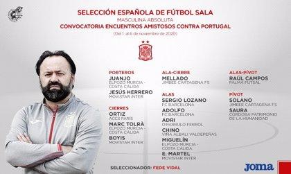 Fede Vidal cita a 15 jugadores para los dos amistosos contra Portugal